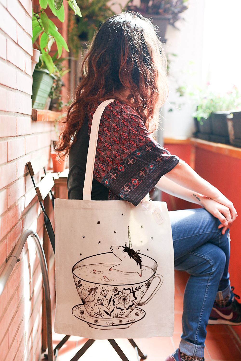 tote bag unicorn Anna Falcó