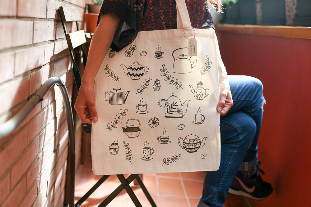 tote bag tea time Anna Falcó