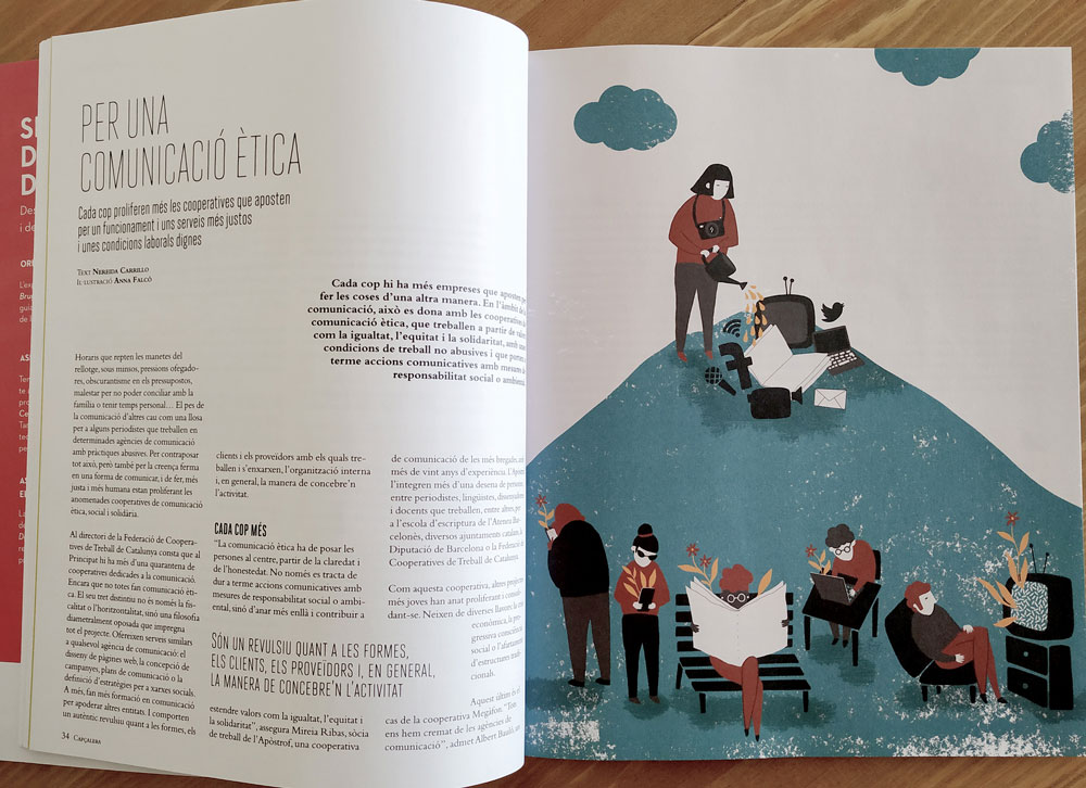 capcalera magazine - press illustration